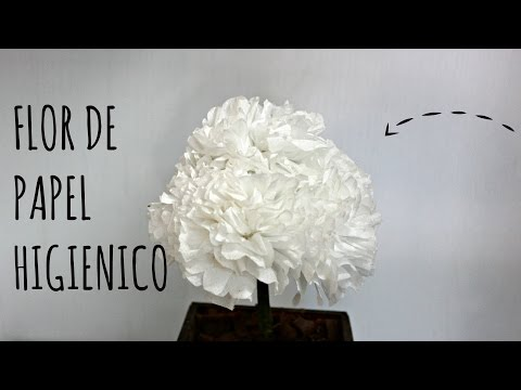 Flor de papel higiênico