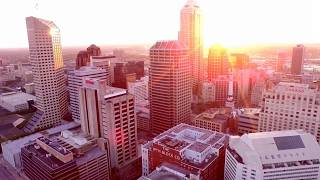 Drone Test Downtown Indianapolis