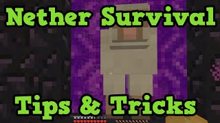 Minecraft Xbox - How To Survive The Nether EASILY