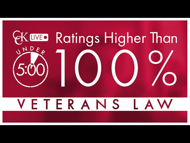 VA Disability Ratings Over 100 Percent: Special Monthly Compensation (SMC)