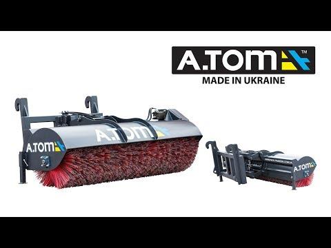 A.TOM Straßenbürste / Kehrmaschine / Kehrbürste 2,4m