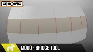 Modo Modeling Tutorial - Using The Bridge Tool Effectively HD