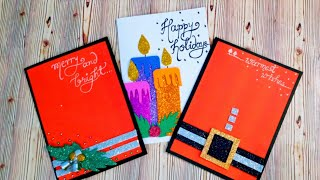 3 easy holiday card DIY // how to make amazing holiday cards