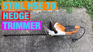 HEDGE TRIMMING using STIHL HSE 70 hedge trimmer