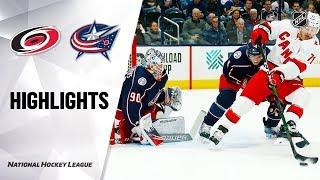 NHL Highlights | Hurricanes @ Blue Jackets 1/16/20