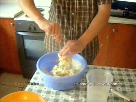 Σπιτικό ψωμί με ελαιόλαδο (home-made bread) english subs