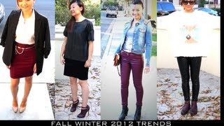 Fall Winter Fashion Trends 2012-2013 & Style Lookbook- Burgundy, Leather
