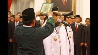Presiden Joko Widodo Lantik Anies-Sandi jadi Gubernur Baru DKI Jakarta