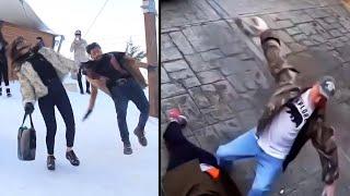 videos de risa  gente vs hielo