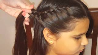 Double Lace Braids Ponytail Hairstyle | Girls Hairstyles | Hairstyle Tutorial