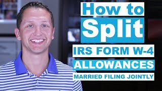 How to Split W-4 Allowances?