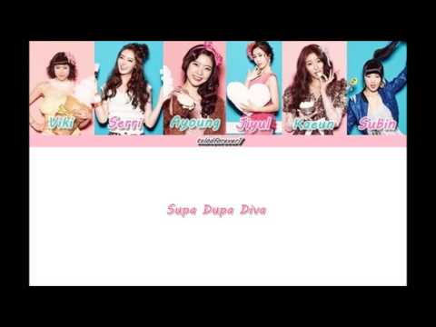 Download Dalshabet (달샤벳) - Supa Dupa Diva - Member Coded Lyrics (Han/Rom/Eng) HD Video