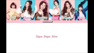Dalshabet (달샤벳) - Supa Dupa Diva - Member Coded Lyrics (Han/Rom/Eng)