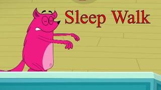 Sleep Walk Ep - 81 - Pyaar Mohabbat Happy Lucky - Funny Hindi Cartoon Show - Zee Kids