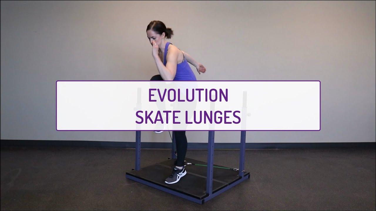 Evolution Skate Lunges