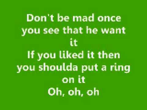 Single Ladies (Put a Ring On It) - Beyonce [lyrics video]