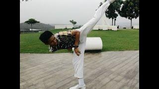 Taekwondo Combo Kick  360 Backswing, Crescent, Turning Kick, 360 Kick, Backswing