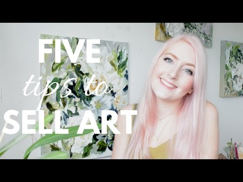 SELLING ART ONLINE | Five Tips to Get Started | Katie Jobling Art