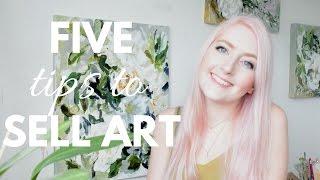 SELLING ART ONLINE | Five Tips to Get Started | Katie Jobling Art