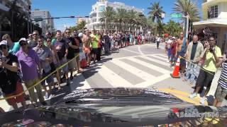 (POV) What It's Like To Drive Through the Gumball 3000 Starting Grid (Miami, FL)