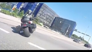Horrific police motorcycle chase in Finland   a surprise ending