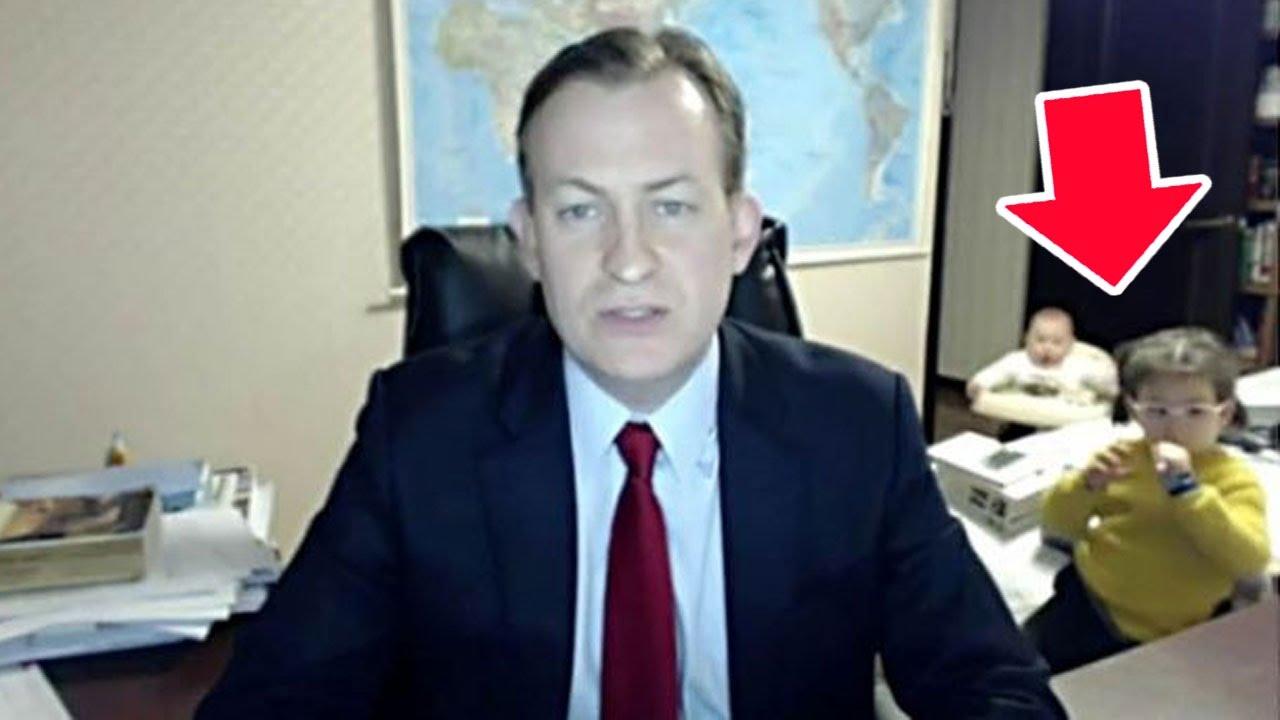 Kids Crash Dad's Live TV Interview (VIDEO) thumbnail