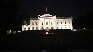 БЕЛЫЙ ДОМ ночной Вашингтон Чайнатаун 08.2017 уличные музыканты Жизнь в США