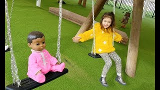Fun Playground For Kids   Slide And Swing