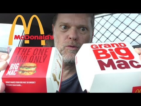 McDonald's GRAND Big Mac Versus Big Mac Comparison Review – Greg's Kitchen