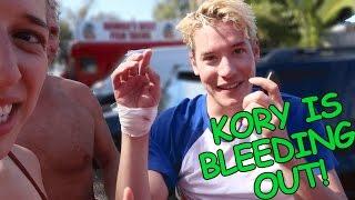 Kory Cut His Hand Open!!