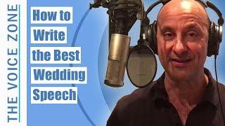 How to Write the Best Wedding Speech