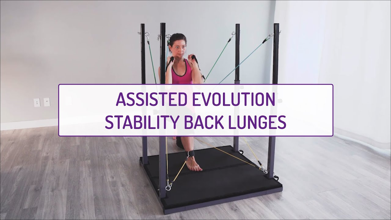Assisted Evolution Stability Back Lunges