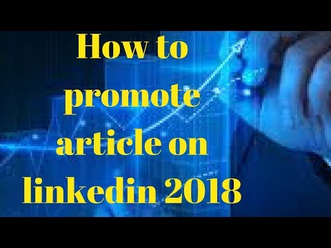 Promote article on linkedin