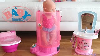 Baby Annabell Shower Room + Baby Born Shower Room - Baby Dolls Night Time Care Routine Pretend Play