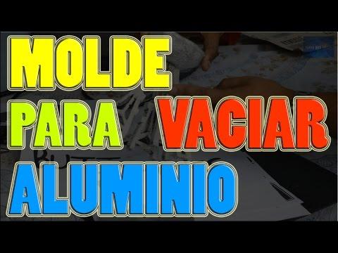 Molde para Vaciar Aluminio con Unicel Poliestireno y Arena Silica  | NQUEH