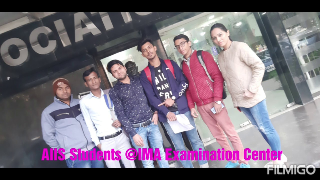 AIIS at IMA Exam Center