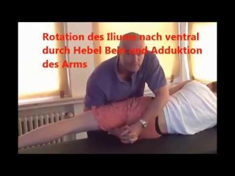 Ausstrahlende Schmerzen in das Gesäß und Knie