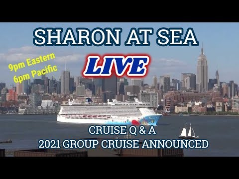 SHARON AT SEA | MONDAY NIGHT LIVE | CRUISE CHAT Q&A