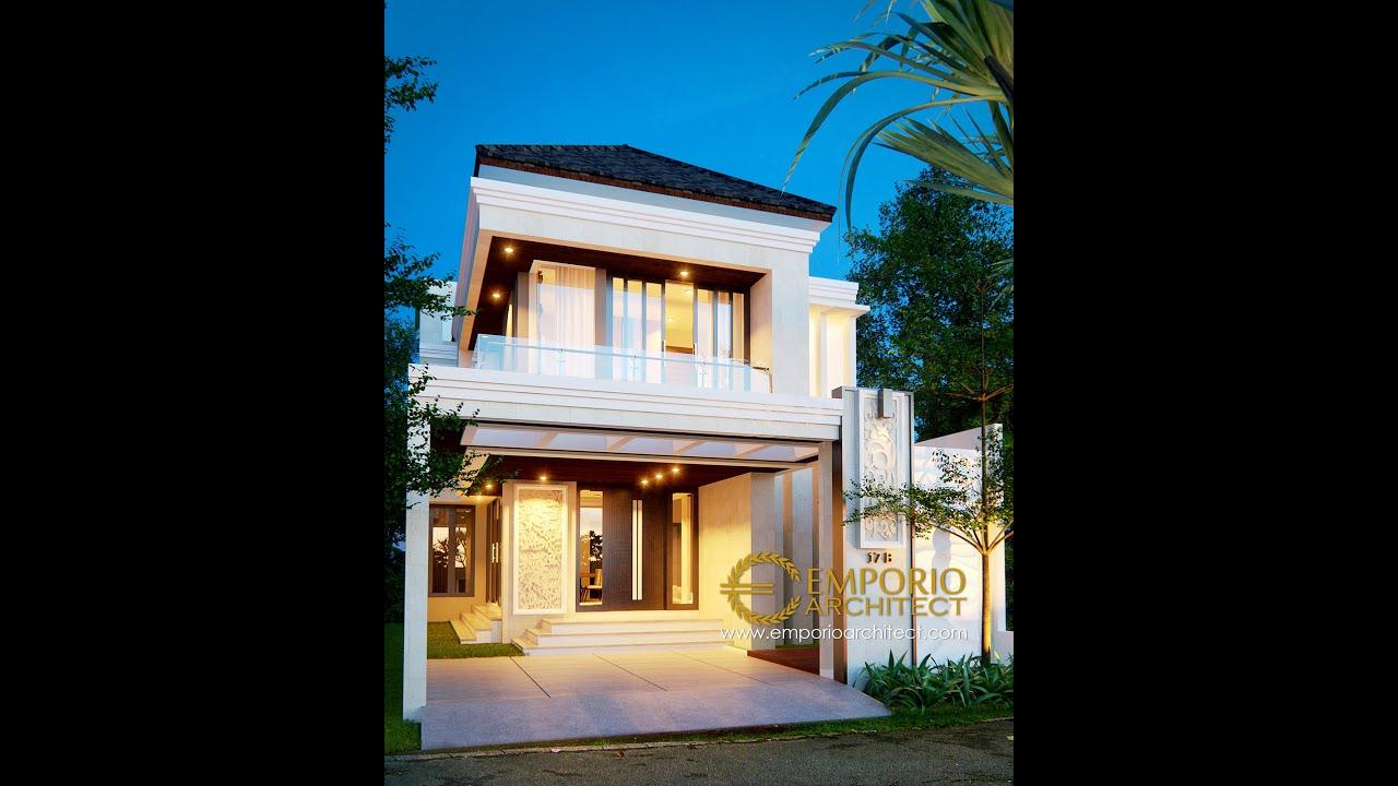Video 3D Desain Rumah Villa Bali 2 Lantai Bapak David di Bekasi