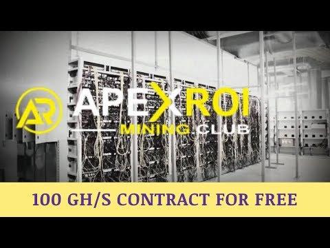 Apexroimining.club отзывы 2019, обзор, Bitcoin Mining, get free 100 GHs bonus contract
