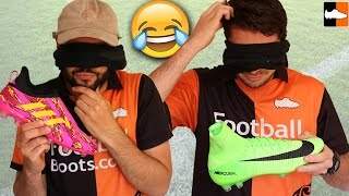 Blindfold Guess The Football Boot Challenge!