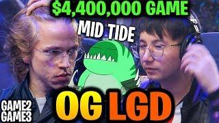 OG vs PSG.LGD - MID TIDEHUNTER! $4.4M TOP 2 CONFIRMED! TI9 Dota 2