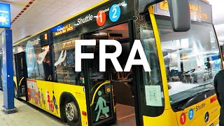 Frankfurt Airport Shuttle Bus, Terminal 2 to 1, and the Train Station