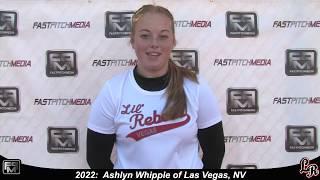 2022 Ashlyn Whipple Power Hitting Catcher Softball Skills Video - Lil Rebels