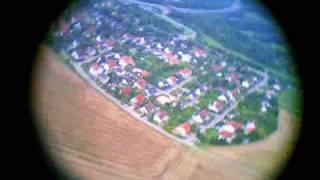 preview picture of video 'Flugvideo mit Modellrakete (Onboard-Kamera) bei Gräfelfing / München'