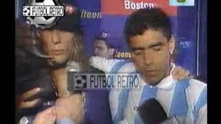 Maradona Y Caniggia Después De Vencer A Nigeria - USA 94 FUTBOL RETRO TV