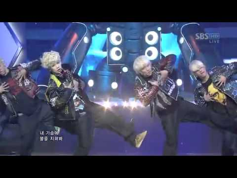 [120129] B.A.P. - Warrior (Debut Stage 2/2) [Inkigayo]