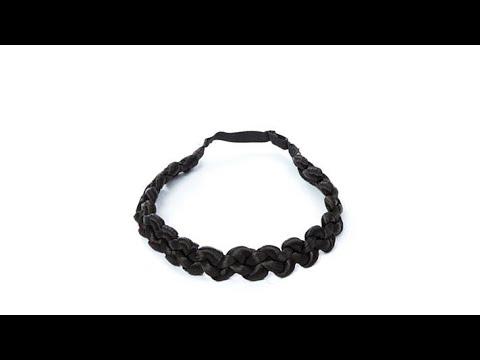 Hair2wear Thick Braid Headband  Almost Black/Ebony