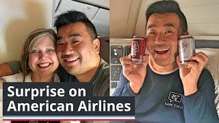 I was SURPRISED by American Airlines!