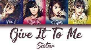 sistar give it to me lyrics color coded - TH-Clip